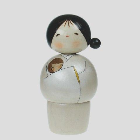 Mother and Baby Kokeshi Doll