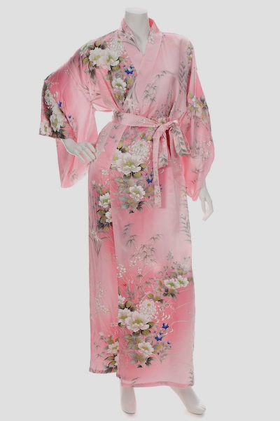 Pink Silk Flower Kimono mothers day