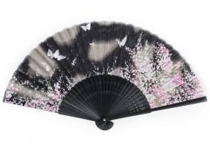 Japanese butterfly fan