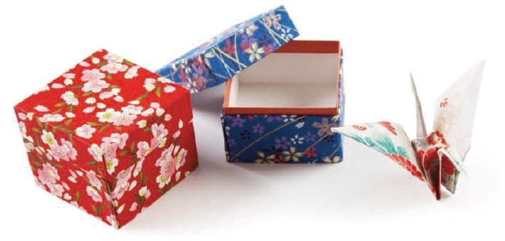 Boxes made by Allie Taylor using Japanese paper crafts