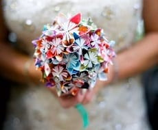 Washi paper wedding bouquet
