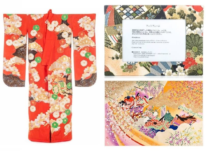 Kimono-inspired Japanese home accessories