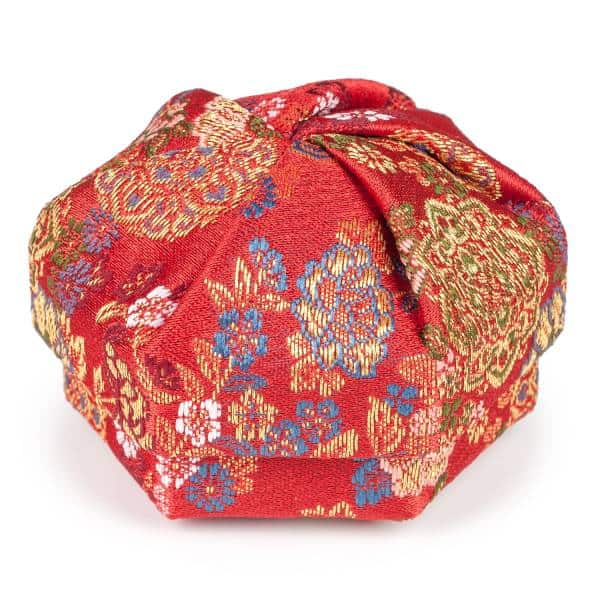red floral traditional japanese jewellery box 1