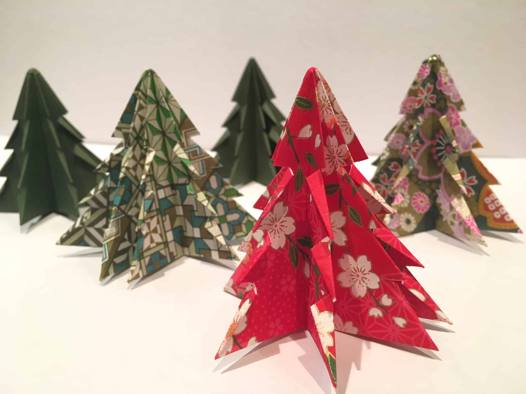origami Christmas decorations