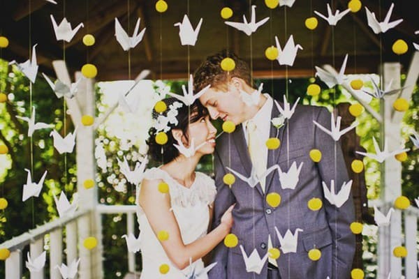Symbolism of japanese birds source httpslovewedblisswedding ideaswedding decorations paper crane wedding ideas junglespirit Choice Image