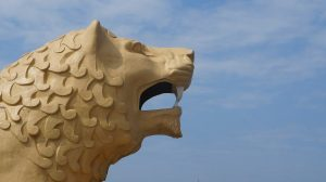 Lion Statue in Japan