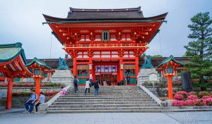 Shinto Shrine at New Years in Japan