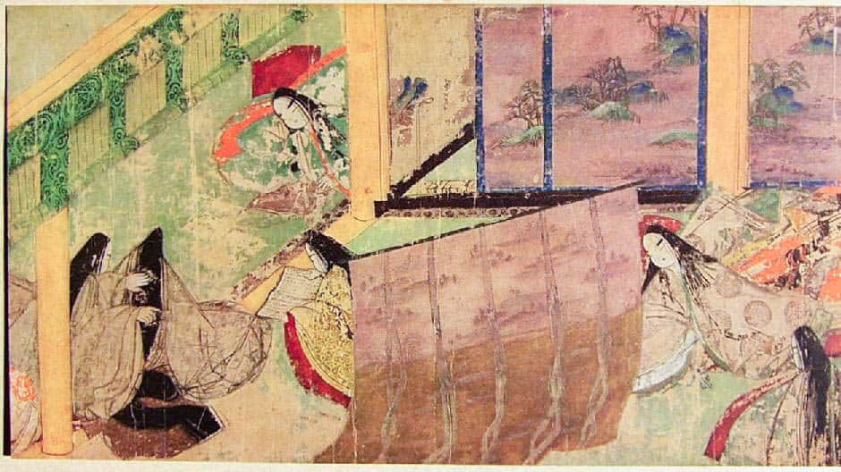 Japanese art history moved into more paint-based practices in the 12th century