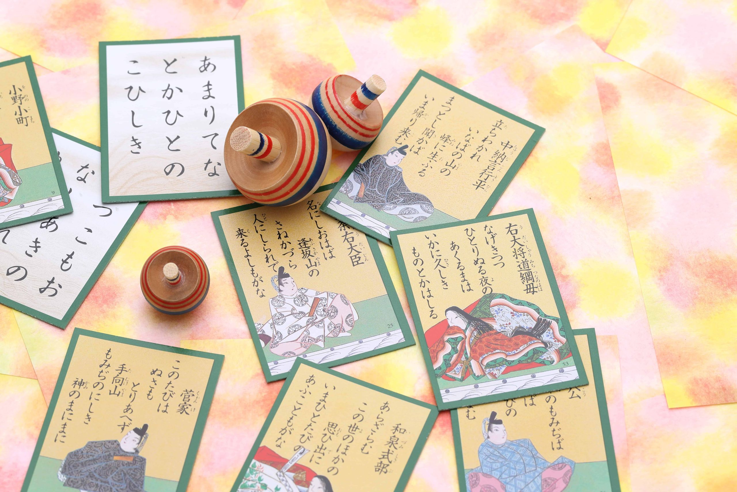 Karuta cards traditional japanese game