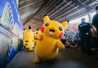 Giant Pikachu Mascot at An Event