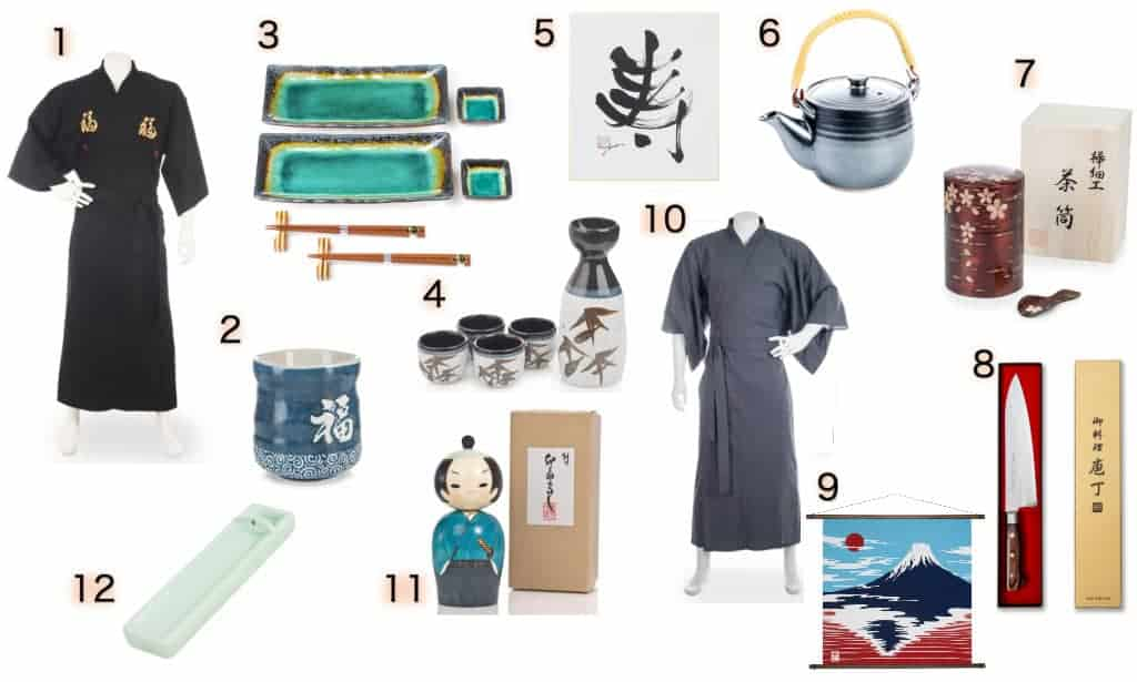 Images of each of the twelve Japanese Father's Day gift ideas listed below.