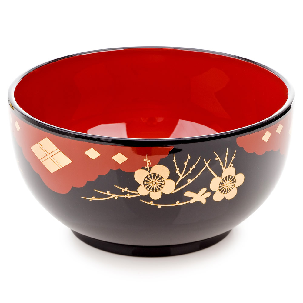 Black Lacquer Japanese Noodle Bowl Set