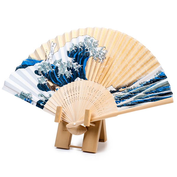Japanese Fan Stand : Japanese fan bamboo stand and wall mount