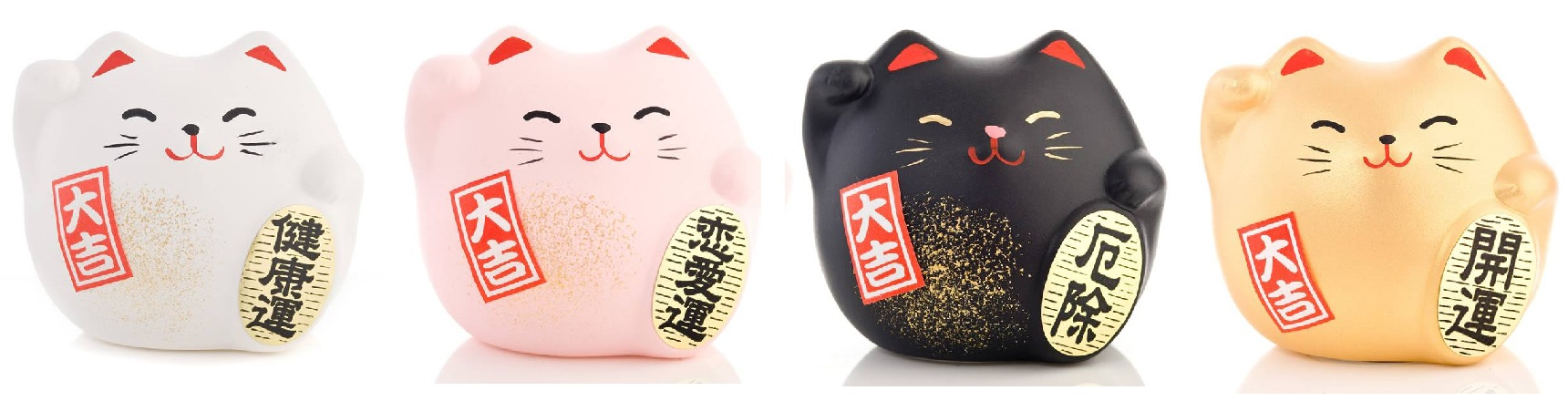 Japanese lucky cat colours and meanings