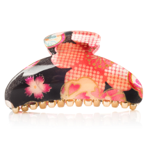 Black Cherry Blossom Japanese Hair Claw
