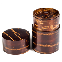 Large Cherry Bark Japanese Tea Caddy and lid