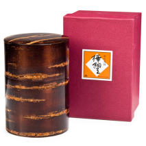 Large Cherry Bark Japanese Tea Caddy and gift box