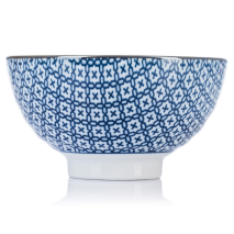 Sashiko Traditional Japanese Rice Bowl side