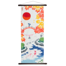 Garden Beauty Japanese Cotton Tenugui and hanging poles