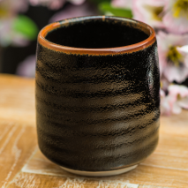 Tenmoku Black Japanese Teacup