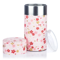 Large Pink Japanese Tea Caddy open