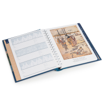 Hokusai Deluxe Japanese Address Book open