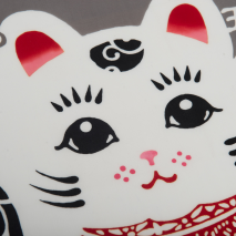 Maneki Neko Japanese Tenugui Wall Hanging Set detail