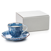 Nejiri Shonzui Japanese Cup and Saucer and gift box
