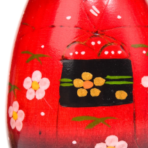 Pretty Red Hairpin Japanese Kokeshi Doll zoom