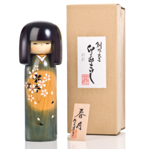 Spring Moon Extra Large Kokeshi Doll and gift box