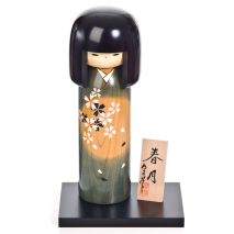 Spring Moon Extra Large Kokeshi Doll and optional base