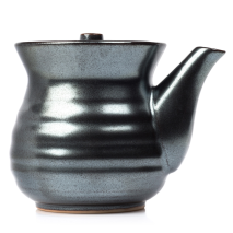 Sumi Grey Japanese Soya Sauce Pot side