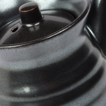 Sumi Grey Japanese Soya Sauce Pot detail