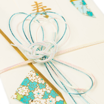Blue Knot Japanese Envelope Card detail