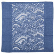 Blue Wave Japanese Cotton Handkerchief