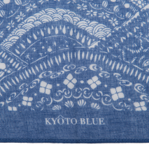 Blue Wave Japanese Cotton Handkerchief detail