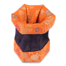 Orange Floral Traditional Japanese Jewellery Box open