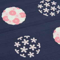 Purple Cherry Blossom Medium Japanese Furoshiki detail