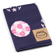Purple Cherry Blossom Medium Japanese Furoshiki folded