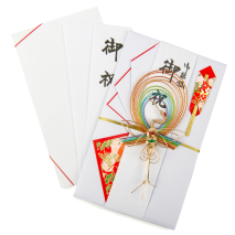 Rainbow Crane Japanese Envelope Card messages