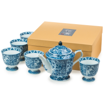 Sarasa Traditional Japanese Tea Pot Set gift box
