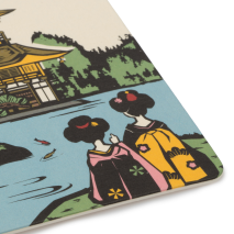 Geisha at Golden Temple Japanese Coaster detail