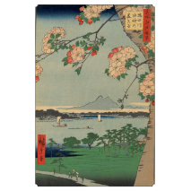 Hiroshige Book of 30 Japanese Postcards example 4