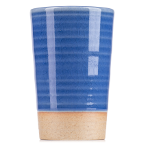 Tall Blue Quality Japanese Sake Cup side