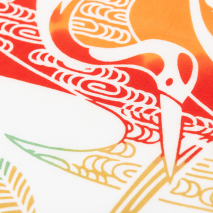 Lucky Cranes Traditional Japanese Tenugui detail