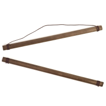 Small Japanese Tapestry Hanging Poles open