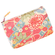 Pink Flower Japanese Pouch Bag