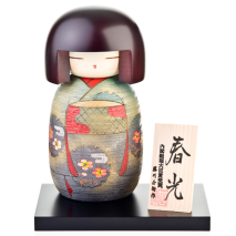 Sweet Lady Japanese Wooden Kokeshi Doll Display Base