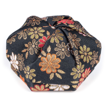 Black Floral Traditional Japanese Jewellery Box