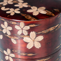 Cherry Bark Handmade Japanese Tea Caddy Set close up